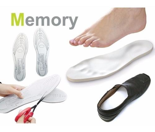 plantilla memory foam espuma con memoria par /ofc