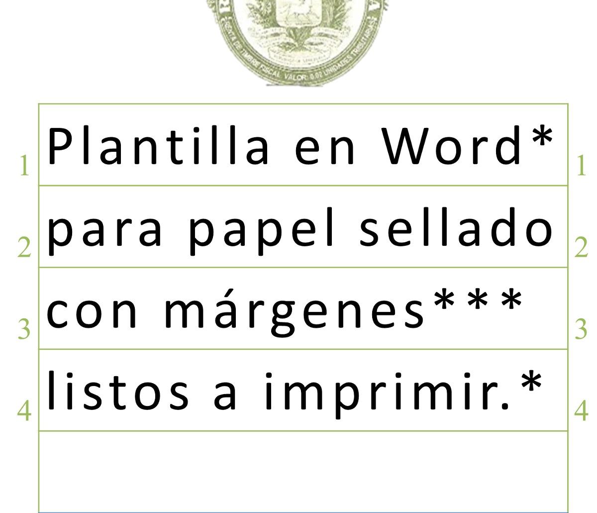 Plantilla O Formato En Word Para Imprimir En Papel Sellado - Bs ...