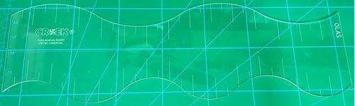 plantilla olas para patchwork maquineria beiro