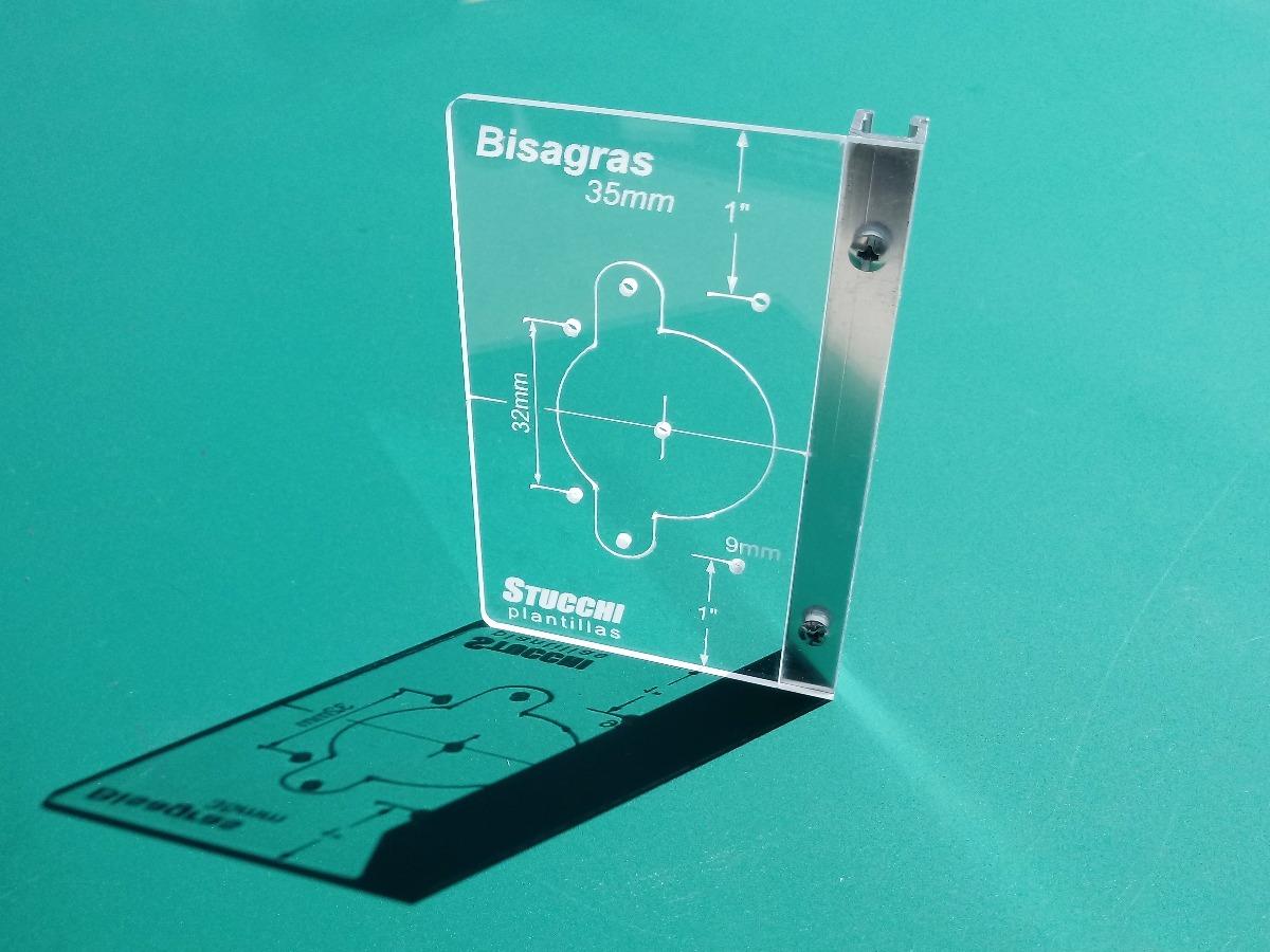 Plantilla Para Colocación De Bisagras Cazoleta 35mm - $ 500,00 en ...