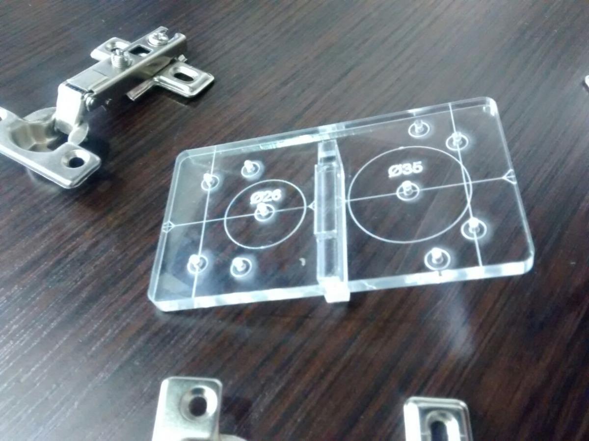 Plantilla Para Instalación De Bisagras Parche O Semi 26-35mm ...