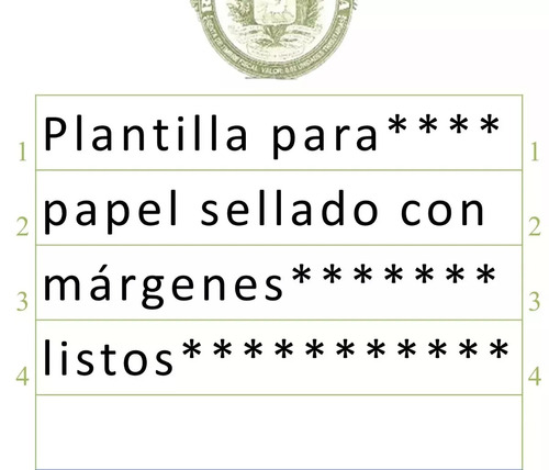 plantilla para redactar documentos en papel sellado - word