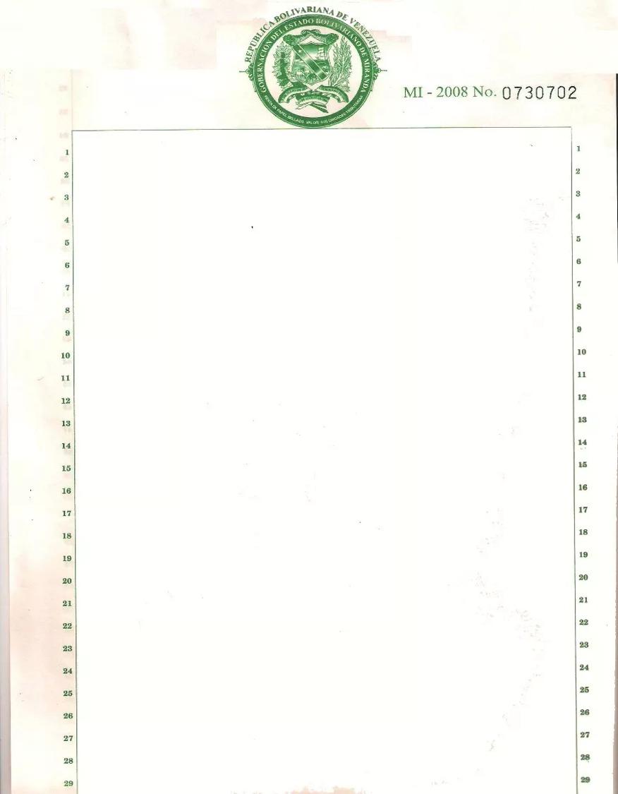 Plantilla Para Redactar Documentos En Papel Sellado - Word - Bs ...