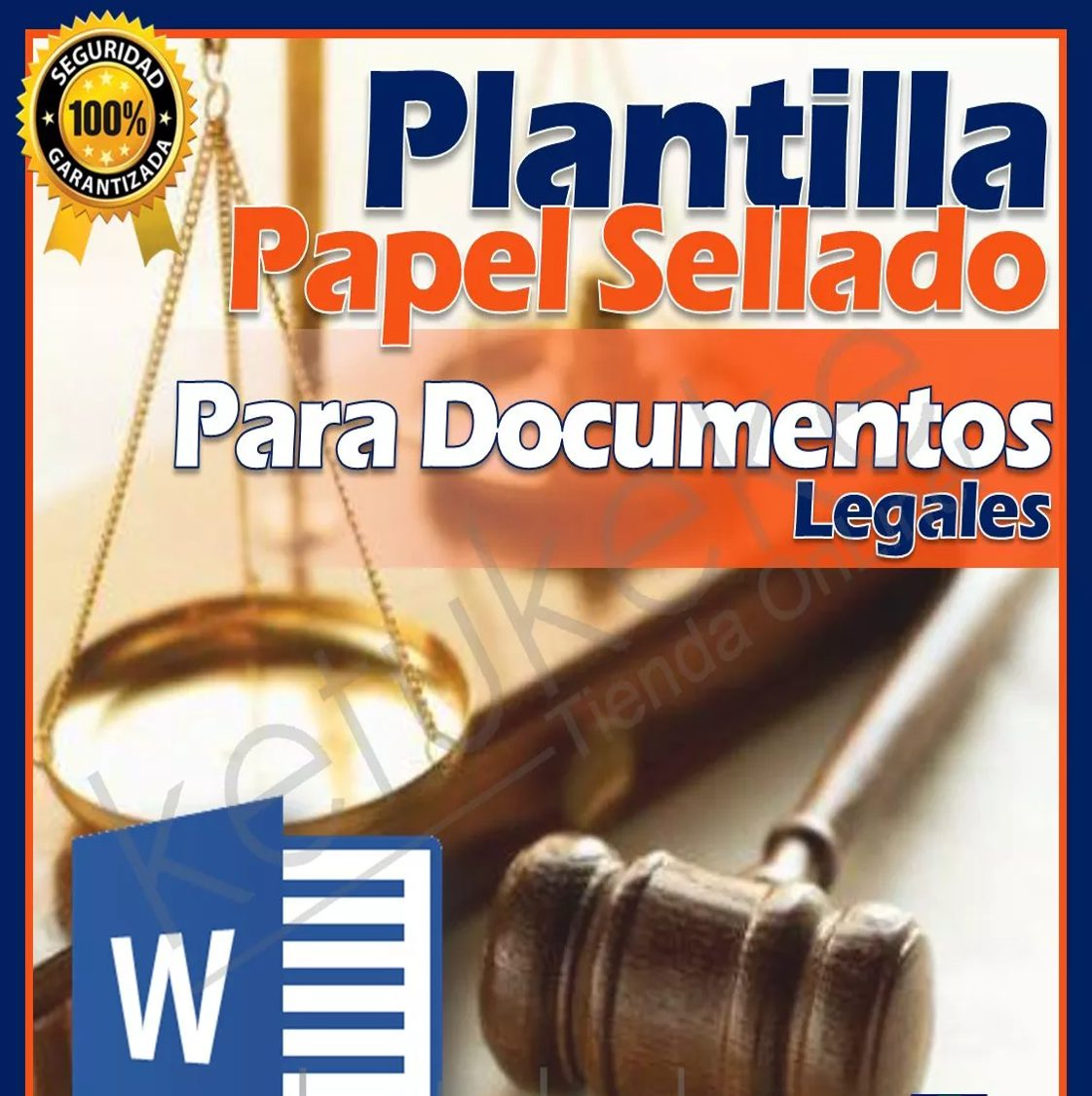 Plantilla Para Redactar Documentos En Papel Sellado - Word - Bs ...