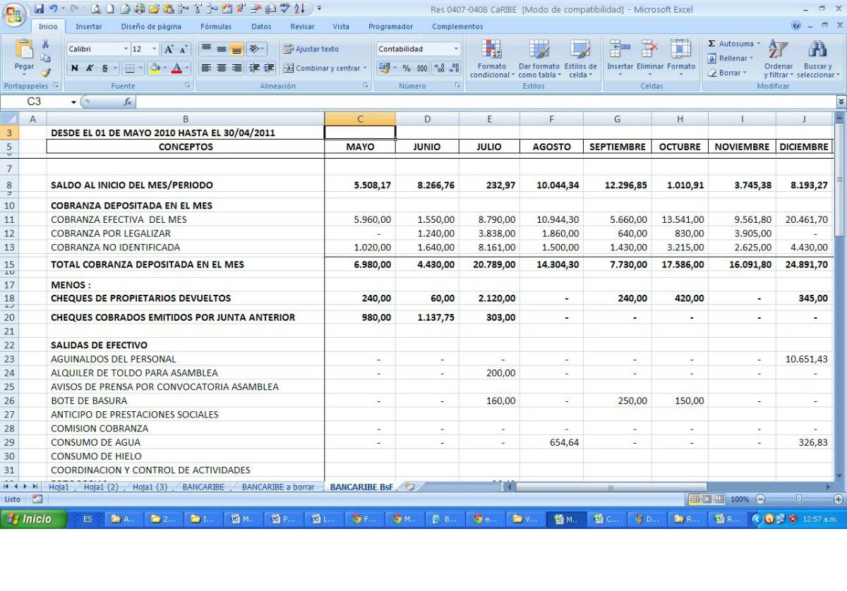 Plantilla Para Rendicion De Cuentas De Juntas De Condominio - Bs ...