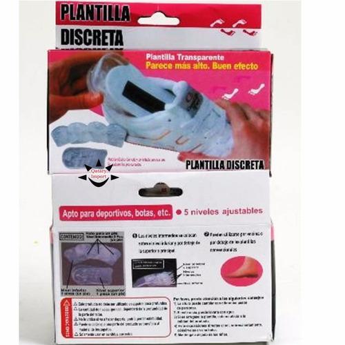 plantilla silicona gel crece 5cm instante elévate shoes envi