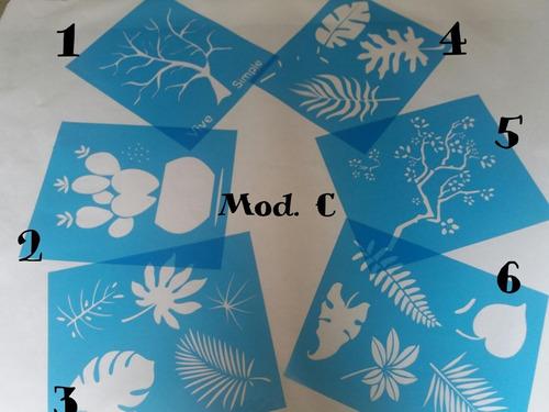 plantilla stencil para pintar y decorar  - modelo a