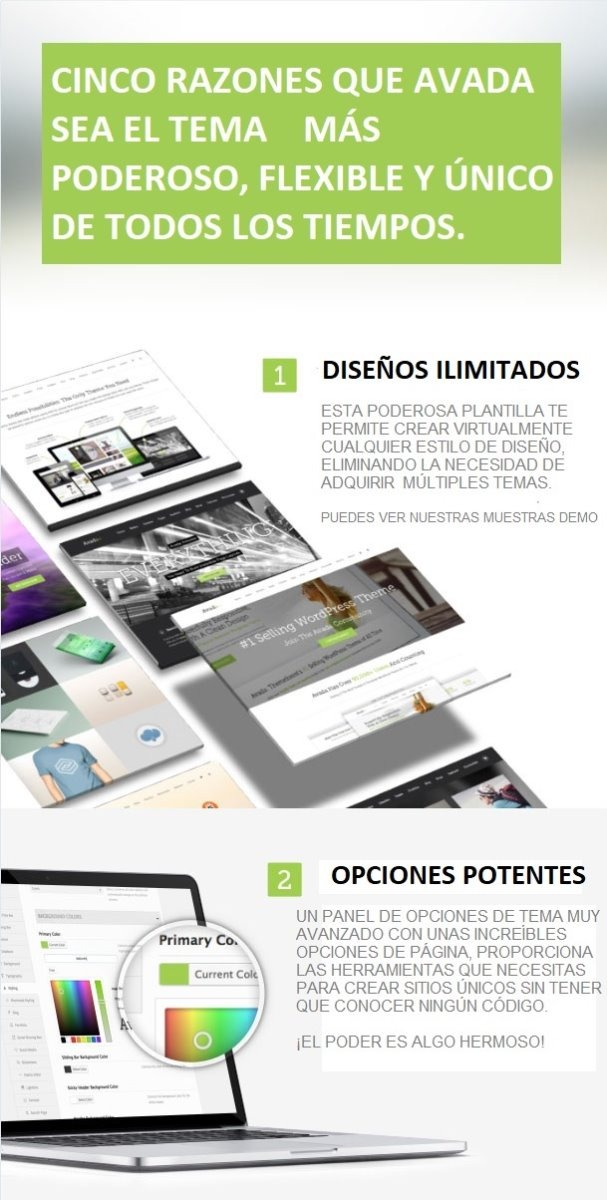 Plantilla (tema) Responsiva Avada Para Wordpress - $ 650.00 en ...