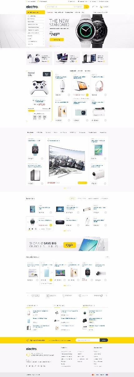 Plantilla Tema Wordpress Electro Con Woocommerce - Bs. 300.000,00 en ...