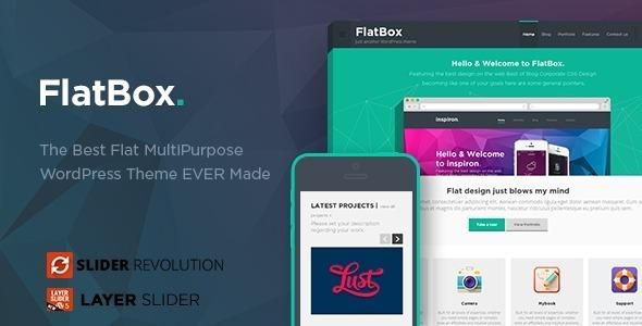 Plantilla Template Tema Wordpress Premium Flatbox - $ 15.000 en ...