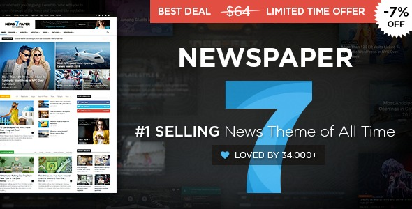 Plantilla Template Tema Wordpress Premium Newspaper - Bs. 791.151,09 ...