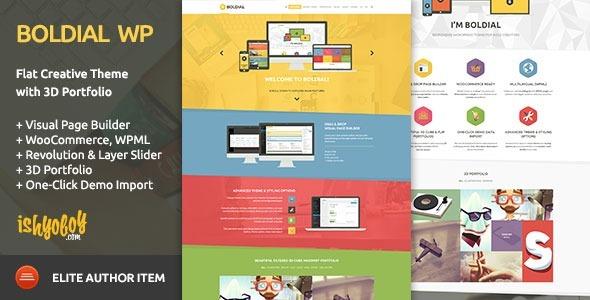 Plantilla Wordpress Premium Tema Creativo Plano Con Cartera - S/ 20 ...