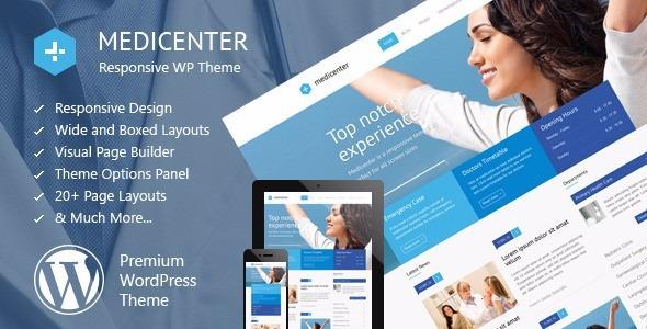 Plantilla Wordpress | Premiun | Medicenter 8.2 Centro Medico - Bs. 0 ...