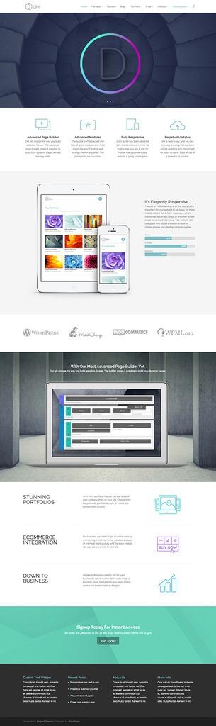 Plantilla Wordpress Tema Divi Premium Responsive - $ 70,00 en ...