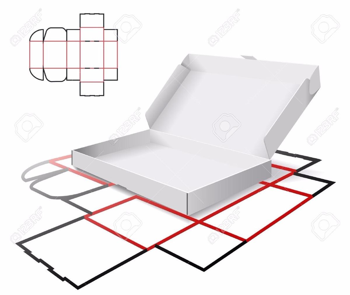 Plantilla Y Corte Para Cajas De Carton - Bs. 150,00 en Mercado Libre