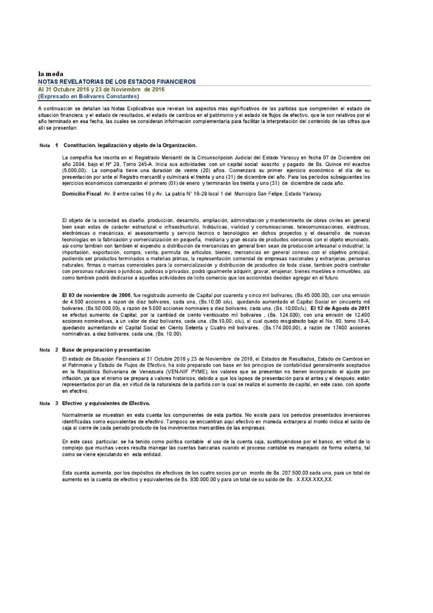Plantillas Aumentode Capita En Efectivo Y Inventario - Bs. 800.000 ...