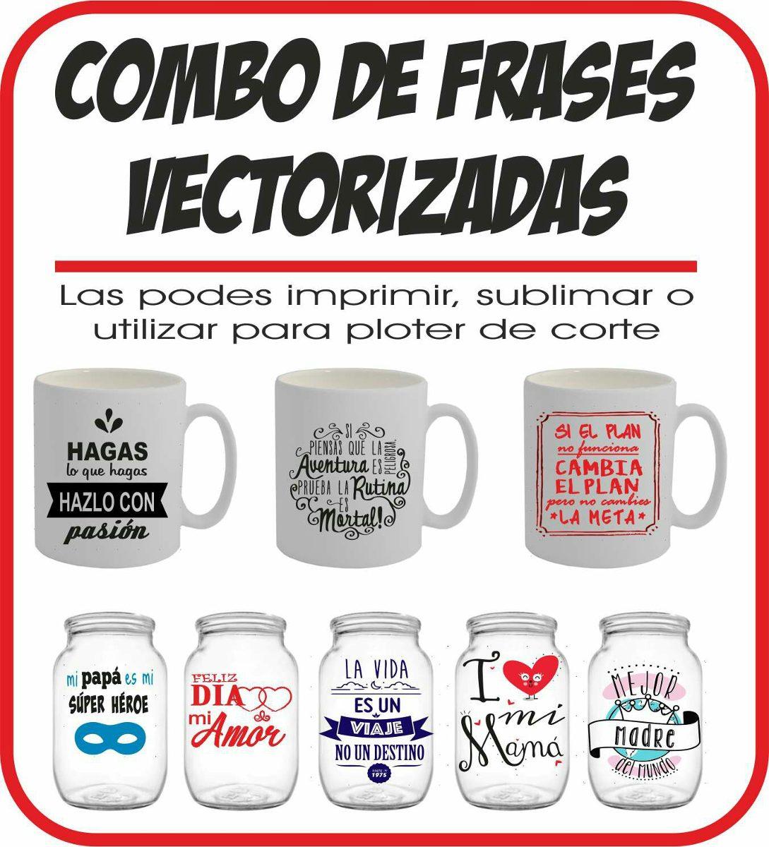 Plantillas Con Frases Tematicas Remeras/vinilo/sublimacion - $ 59,99 ...
