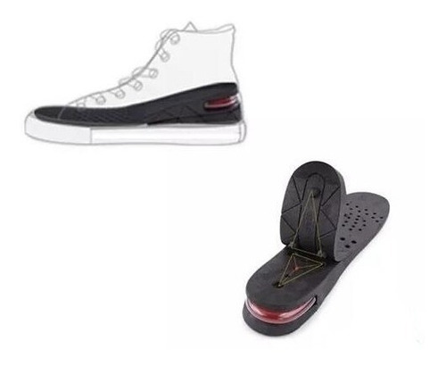 plantillas de altura zapato poliuretano aumenta estatura 7cm