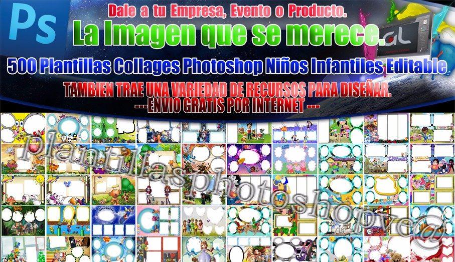 Plantillas De Collages Infantiles Photoshop Editables Y Png - $ 99 ...