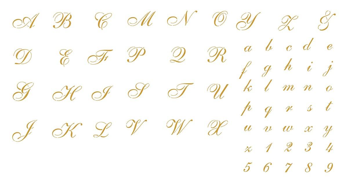 Plantillas De Letras Cursivas 1 Hoja 3x 8 X 12 Plantillas