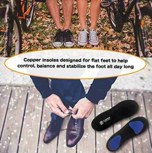 plantillas de pie de pies planos de compresión de cobre. gar