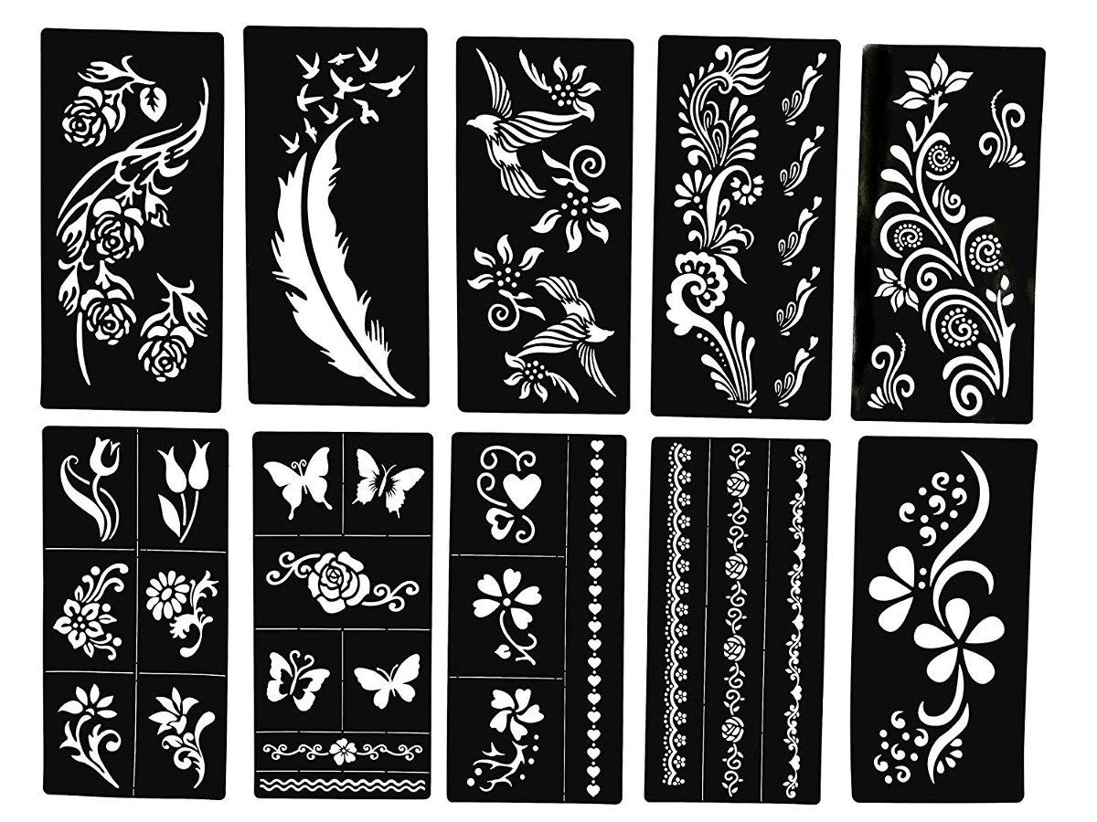Plantillas De Tatuajes De Mariposas Y Flores Diseños De N