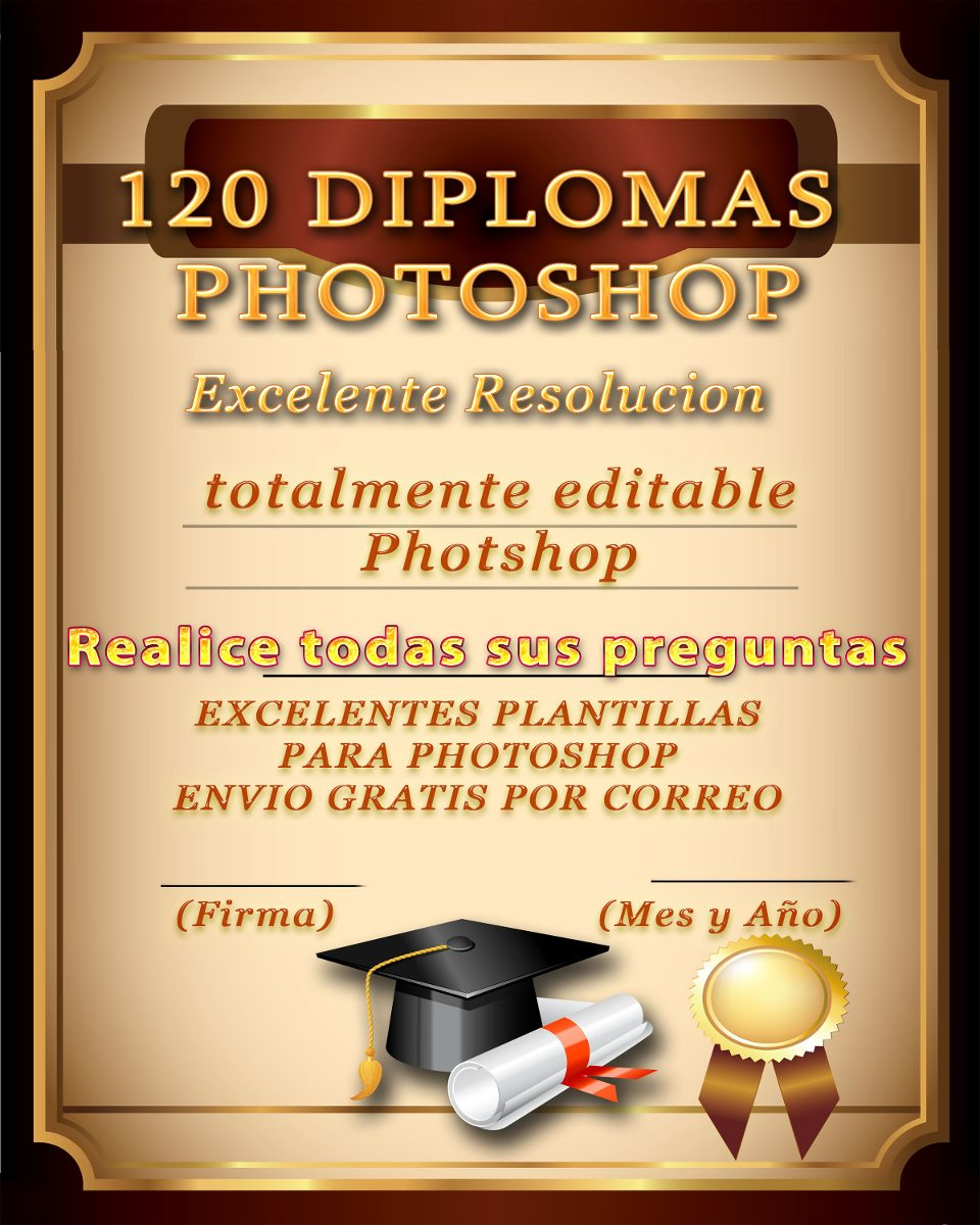 Plantillas Diplomas Editables Photshop Psd Excelente 120 Psd - Bs ...