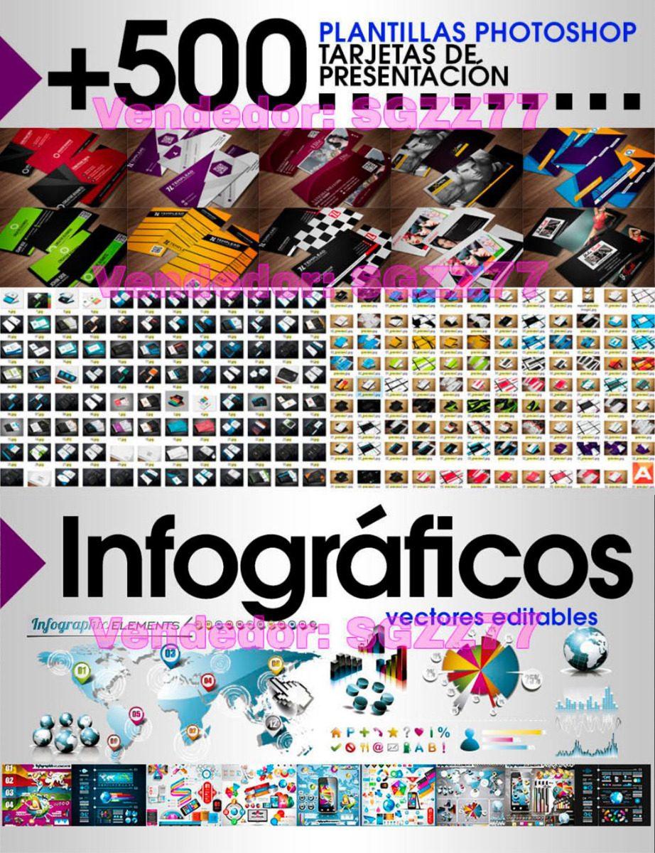 Plantillas Editables Tarjetas Banners Logos Fuentes Infograf ...