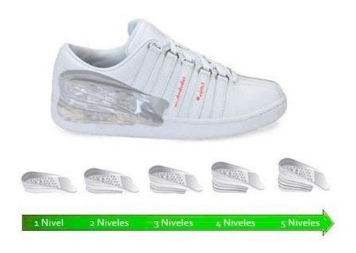 plantillas elevadoras - elevate shoes 5cm. unisex originales