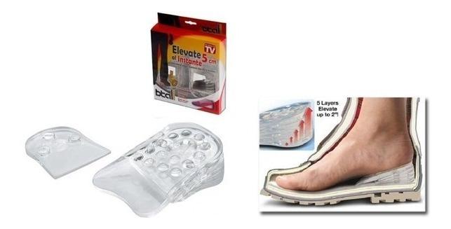Resultado de imagen para Plantillas Elevadoras Silicona 3 Cm Elevate Shoes Zapatillas iero 46