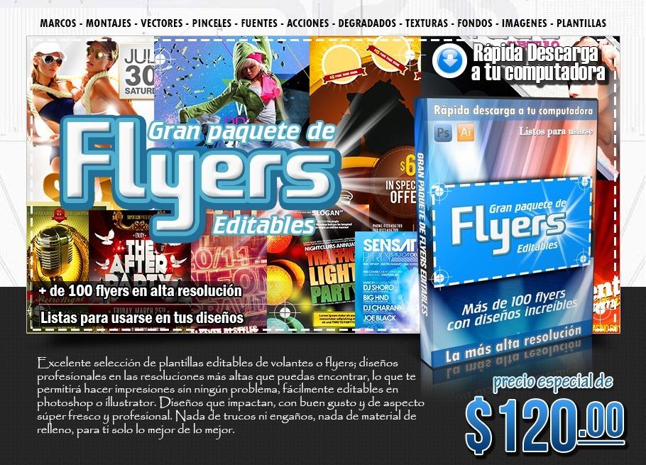 Plantillas Flyers Volantes Anuncios Diseño Gráfico - $ 120.00 en ...