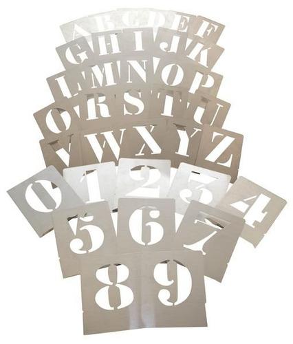 plantillas letras y numeros para pintar en aerosol