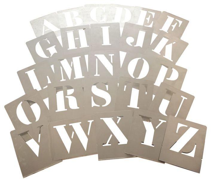 plantillas letras y numeros para pintar en aerosol 3