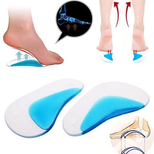 plantillas ortopédicas de gel para pie plano 2 piezas