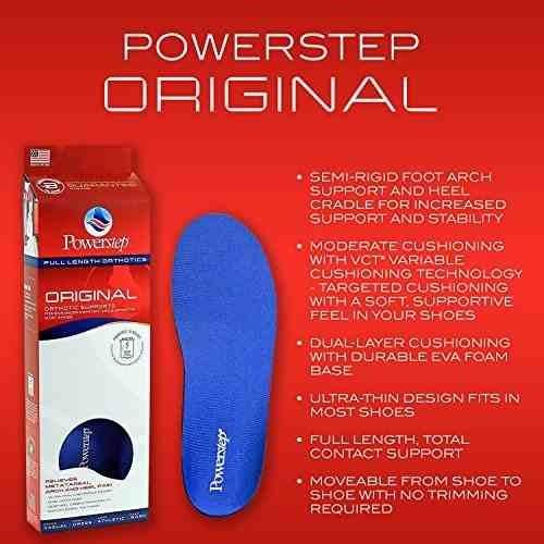 plantillas ortopédicas del zapato de powerstep de la longitu