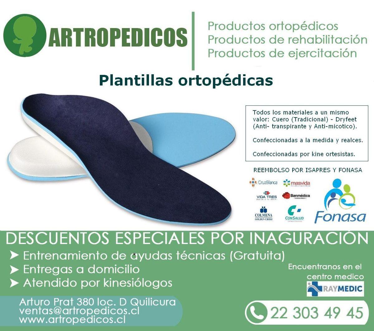 Plantillas Ortopedicas Personalizadas - $ 24.990 en Mercado Libre