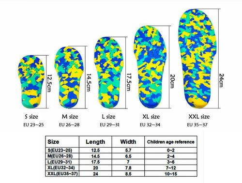 plantillas ortopédicas pie plano para niños