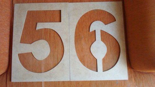 plantillas para letras, numeros, figuras, simbolos de 25cm