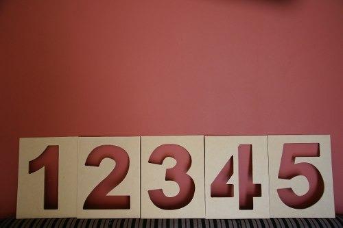 Plantillas para letras numeros figuras simbolos se ales bs en mercado libre - Plantillas pared ...