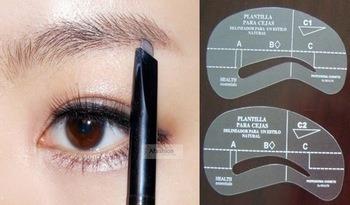 plantillas para maquillaje y depilación de cejas