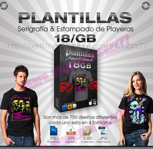 plantillas para playeras photoshop cdr eps serigrafia 18gb