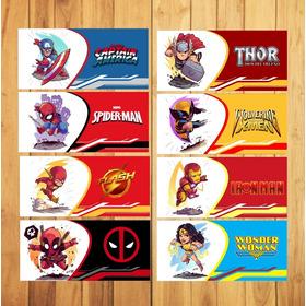 Plantillas Para Taza Sublimar Super Heroes