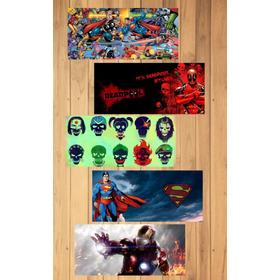 Plantillas Para Taza Sublimar Super Heroes Pack 2