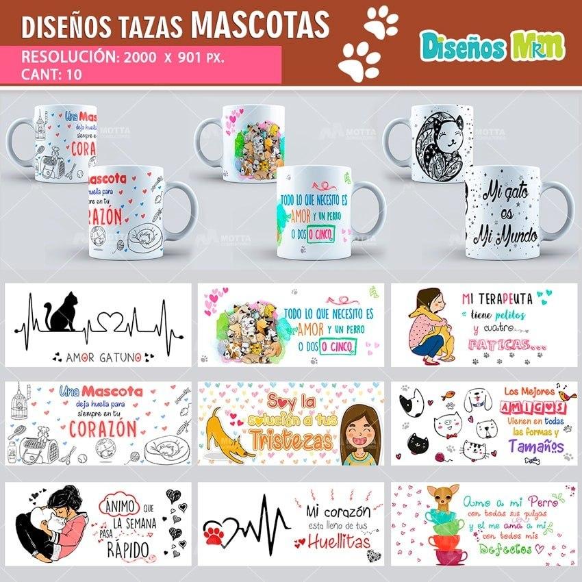 Plantillas Para Tazas Mascotas Pet Gatos - $ 14.000 en Mercado Libre