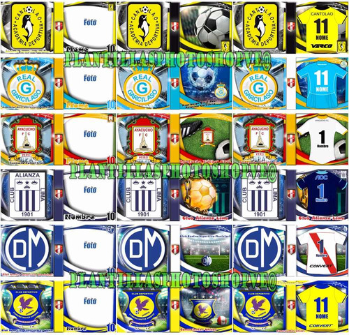 plantillas photoshop sublimar tazas equipos futbol peruano