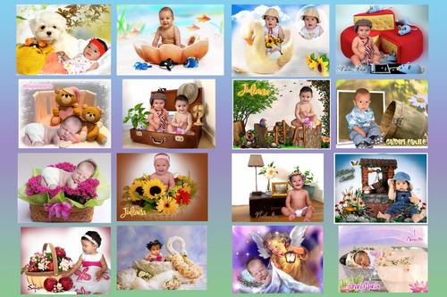 plantillas psd 2016: diseños solo para niños 1 mes-5 años