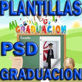 plantillas psd graduacion diplomas grupales marcos toga e9