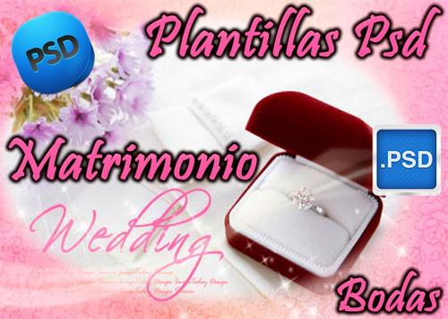 plantillas psd photoshop bodas wedding matrimonio editables
