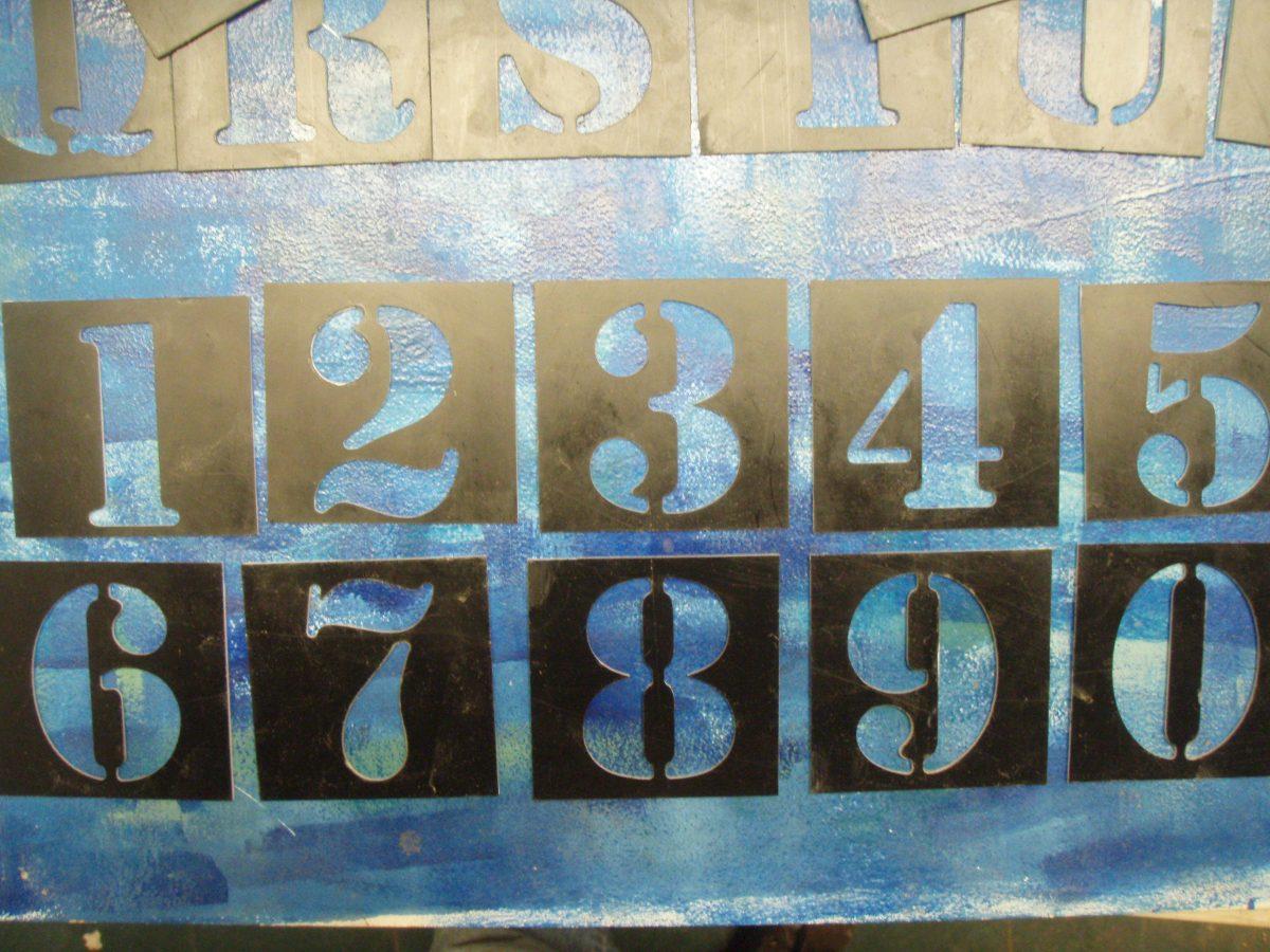 Plantillas_ Stencil Para Pintar Abc Letras Y Numeros 3 Cms - $ 600 ...