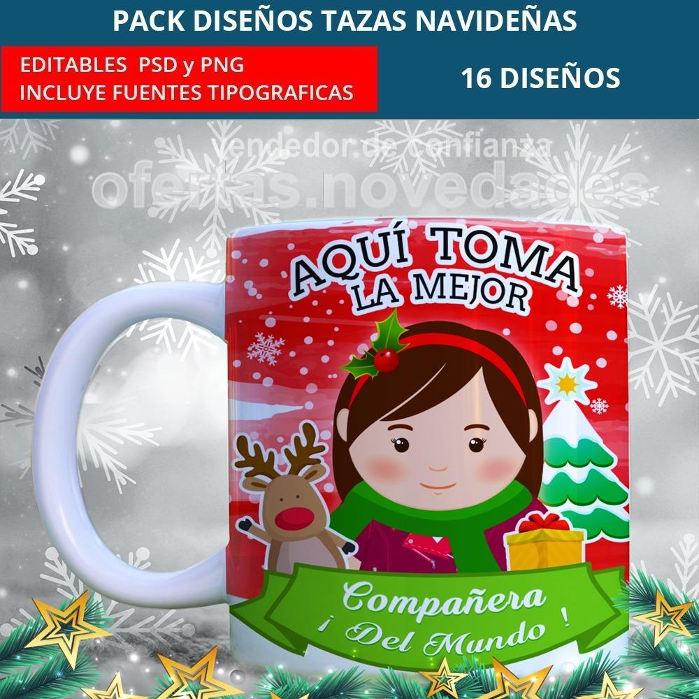 Plantillas Sublimacion Tazas Aqui Toma La Familia En Navidad S 15